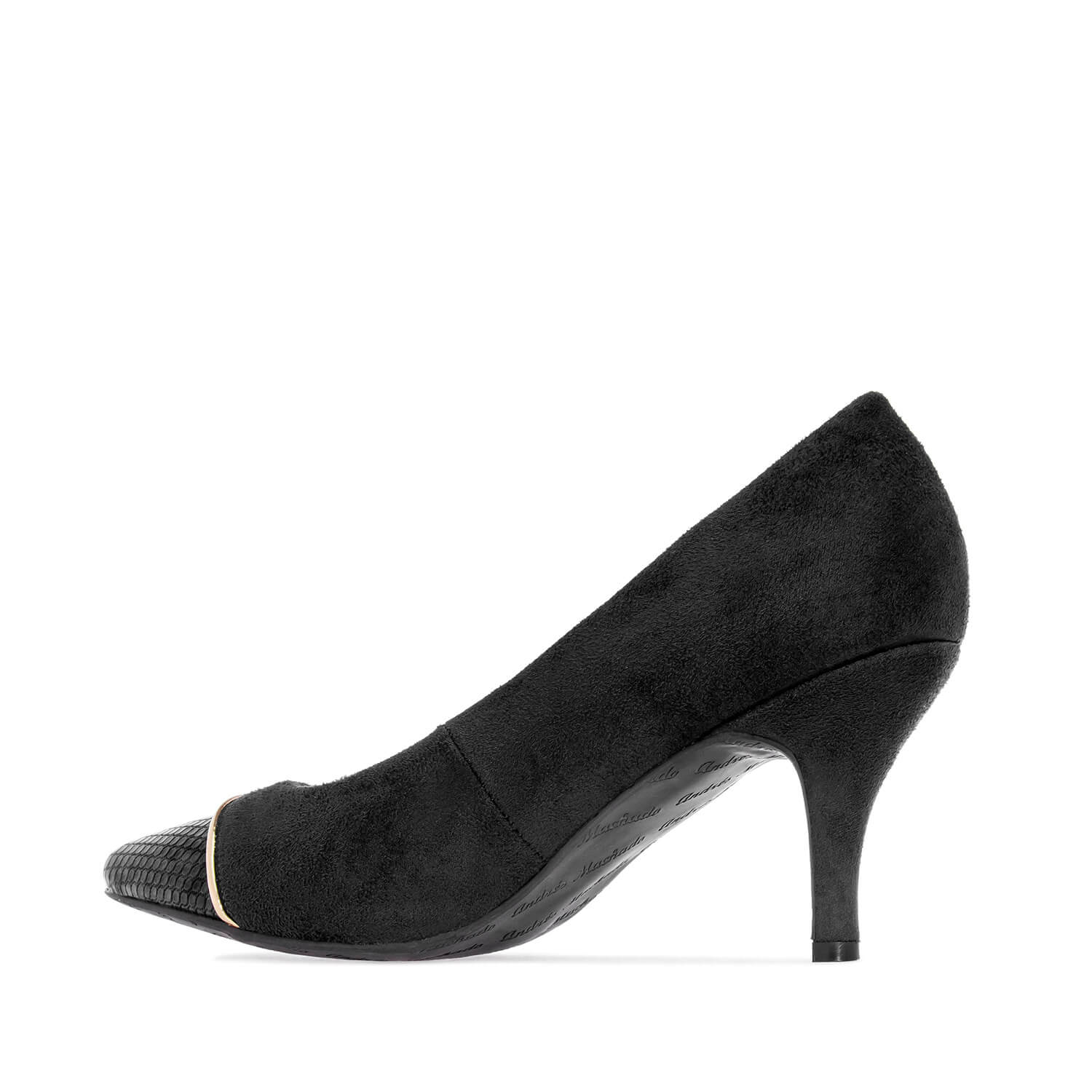Pumps in Black faux Suede