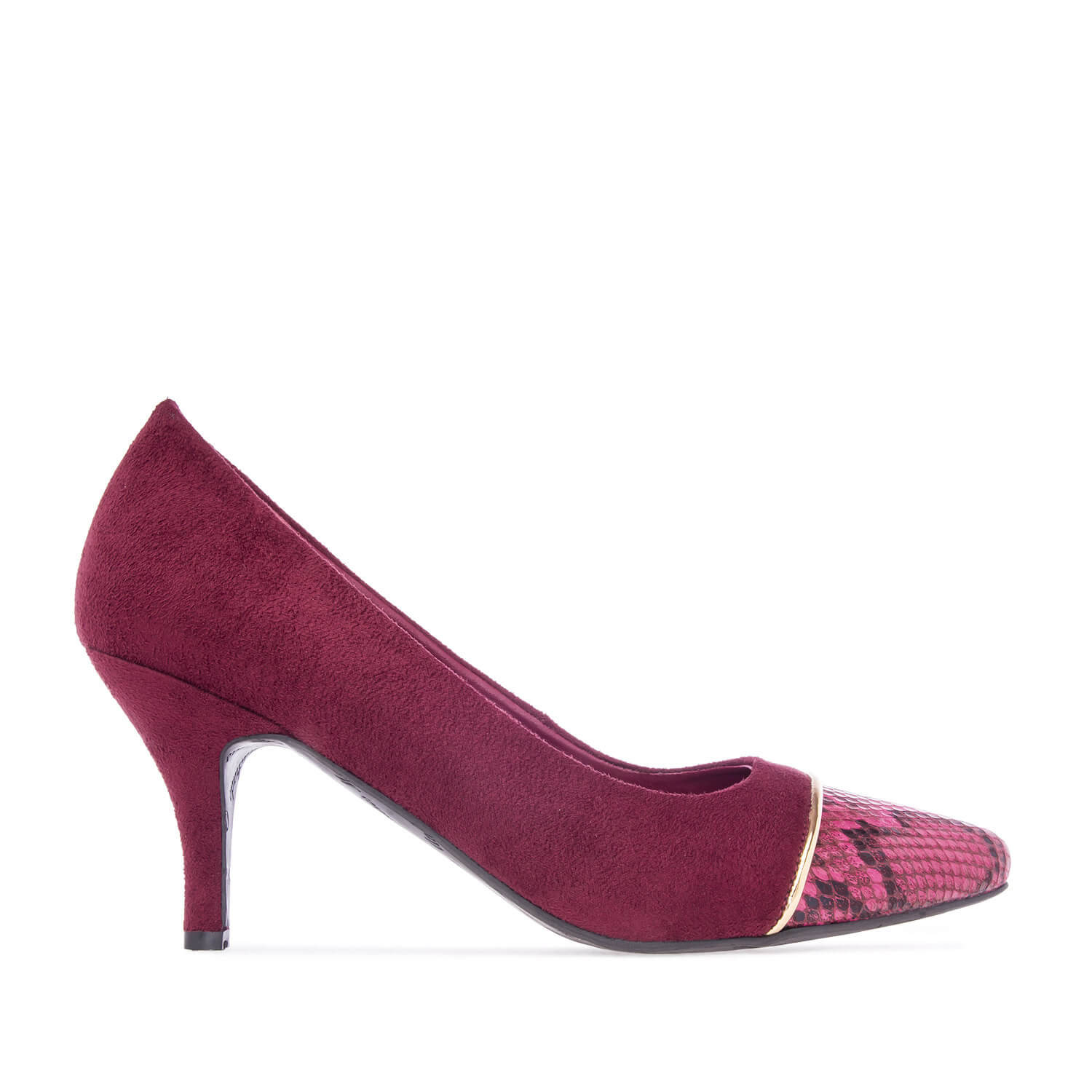 Pumps in Burgundy faux Suede