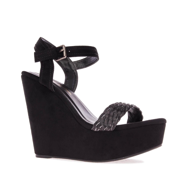 Antilop sandale na platformu u istoj boji, crne