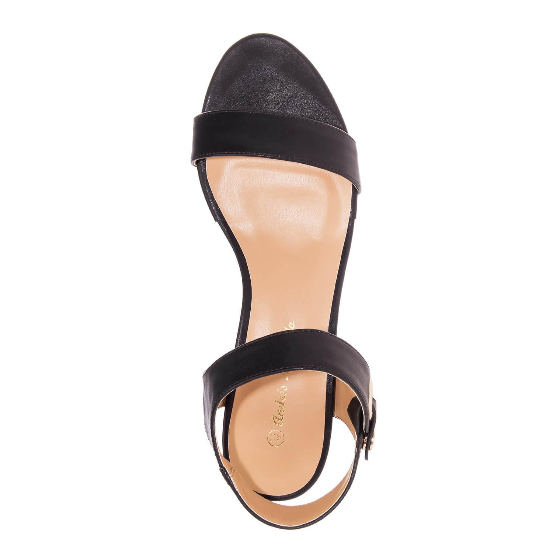 Sandalia en soft de color Negro