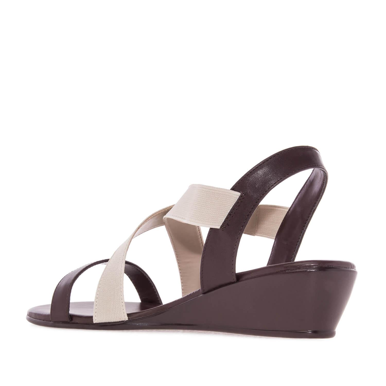 Sandalia Soft color Marron elastico