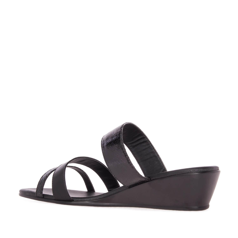 Sandalias cuña color Negro