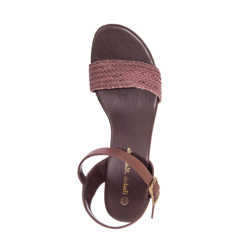 Sandalias Cuña Soft de color Marrón.