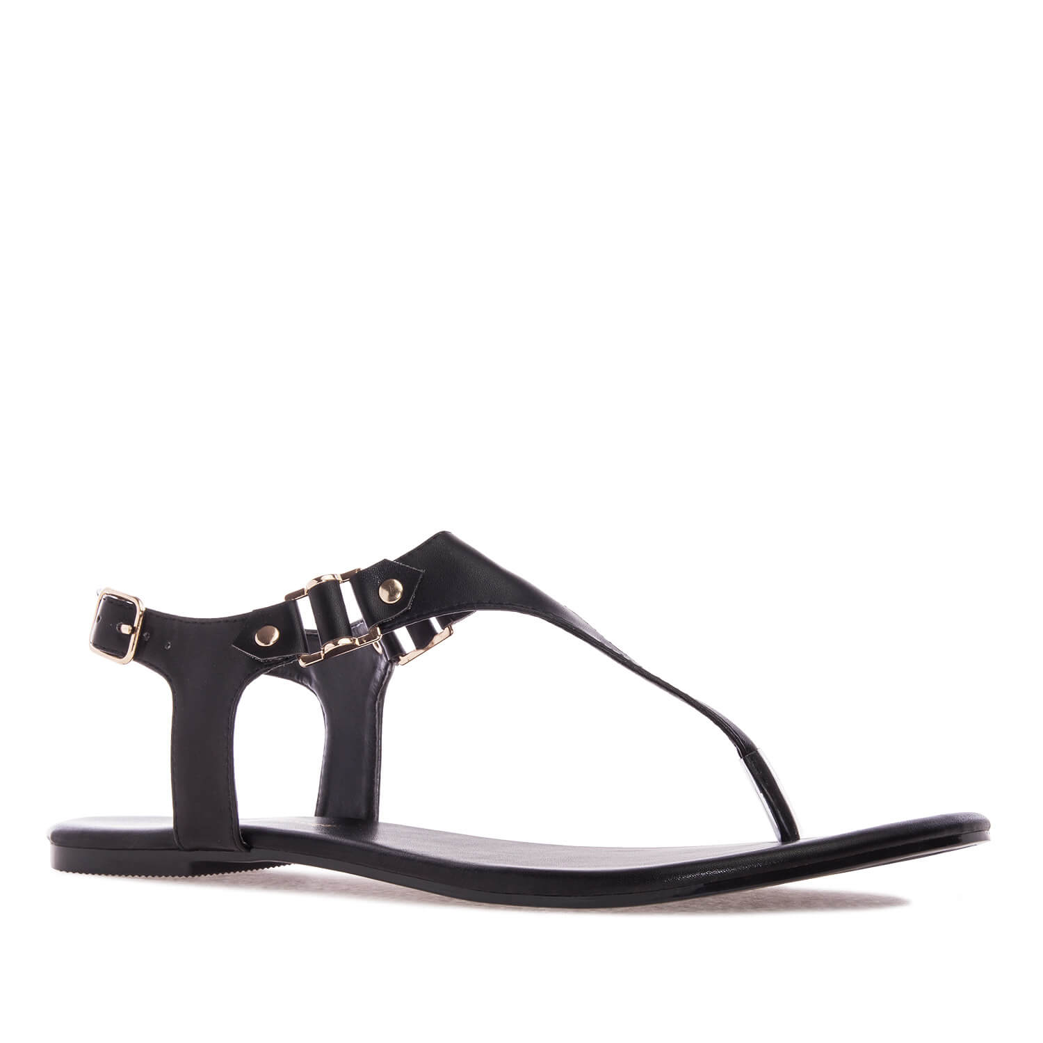 Sandalias t-bar en Soft de color Negro.