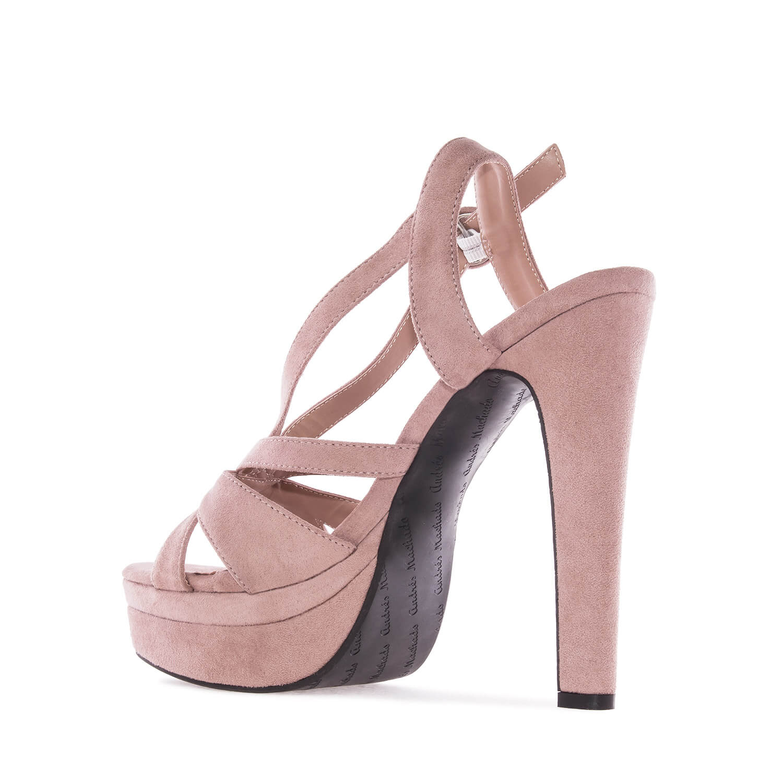 Antilop sandale na štiklu, boja pudera