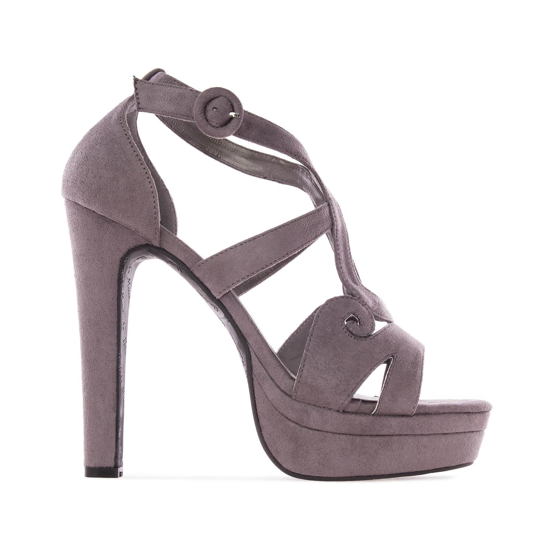 Harmaat korokepohja sandaalit