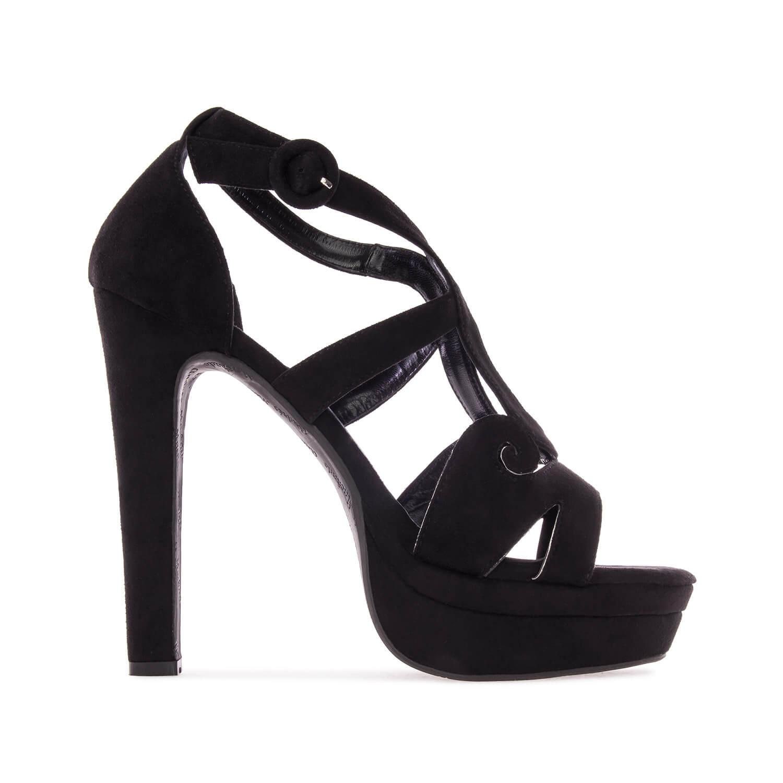 Antilop sandale sa neobičnim detaljima, crne