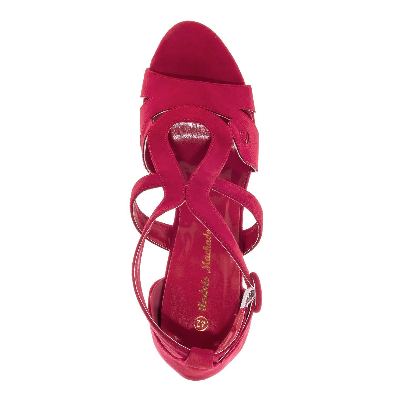 Sandalia envolvente en Ante Color Rojo