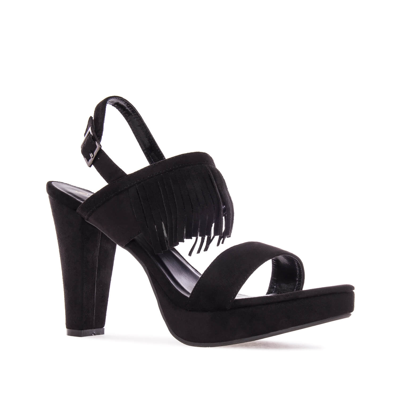 Antilop sandale sa resama, crne