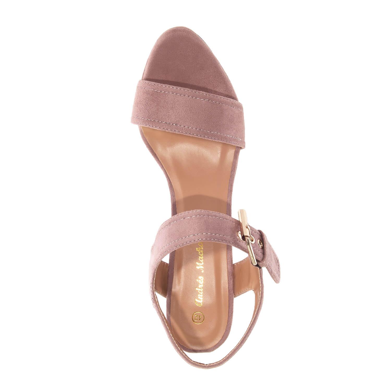 Antilop otvorene sandale na štiklu, boja pudera