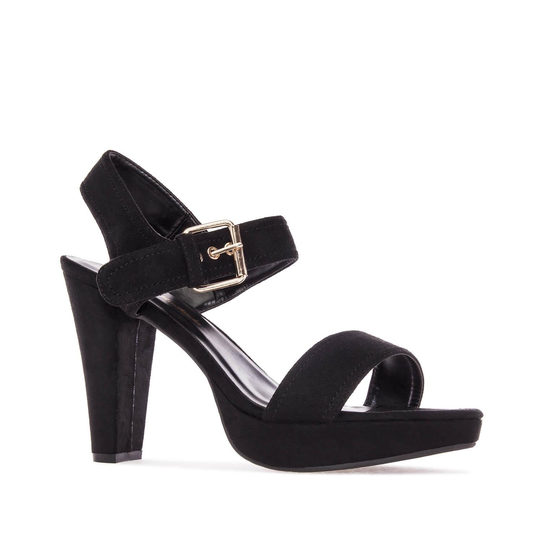 Antilop otvorene sandale na štiklu, crne