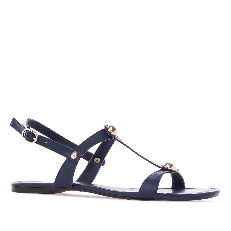 Ravne sandale sa nitnama, plave