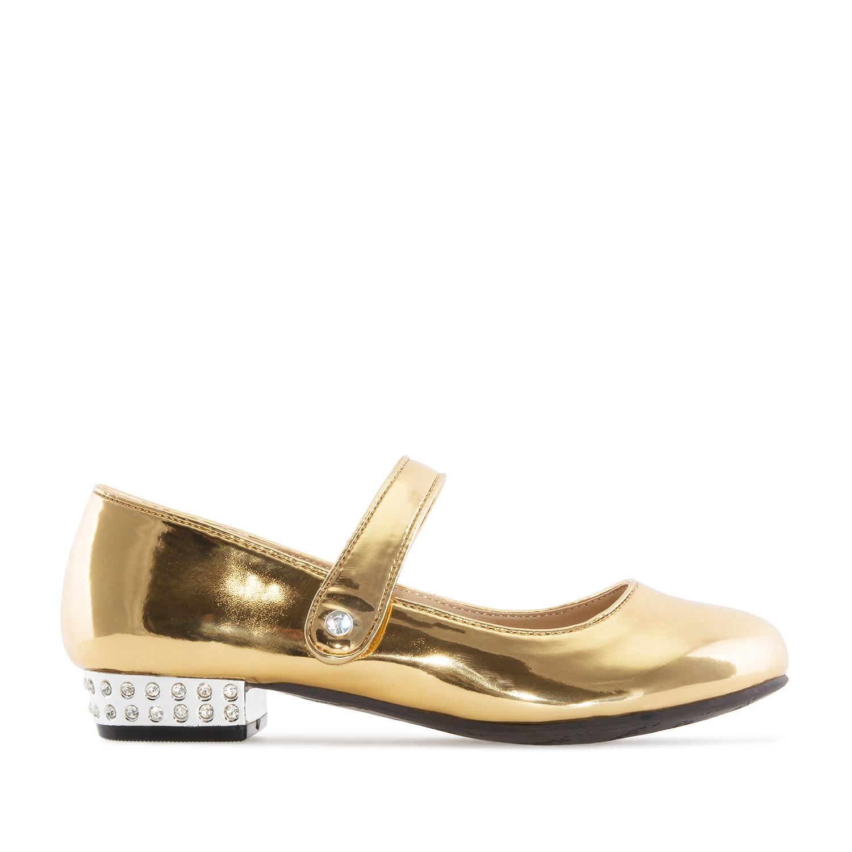 Zapato Mary Jane Niña en charol color Oro