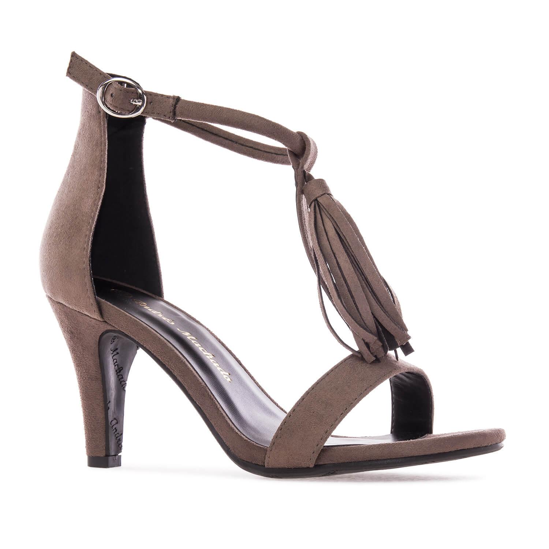 Antilop sandale na štiklu, braon