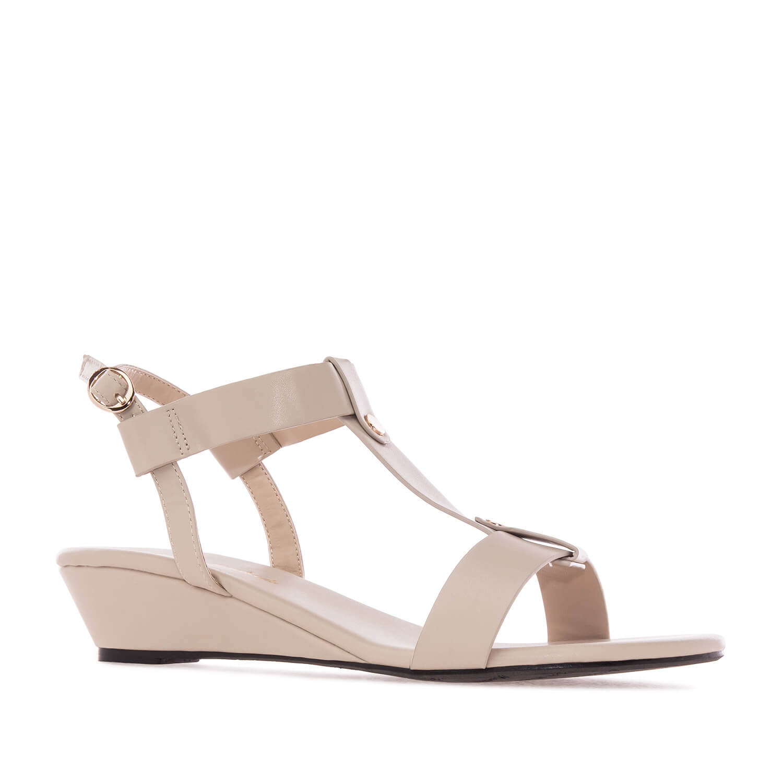 Sandale sa mini platformom, soft bež