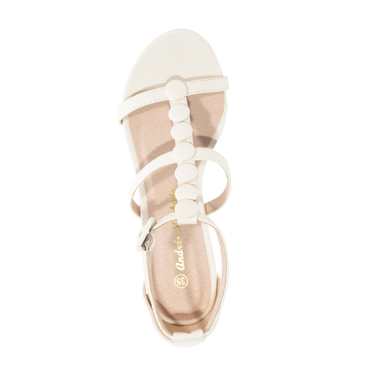 Sandalias T-Bar en Soft de color Beige.
