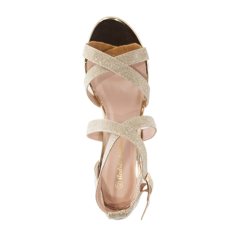 Sandalias en Brillo Oro