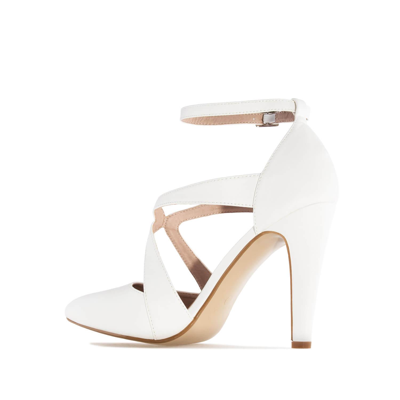 Escarpins bout pointu en Soft Blanc