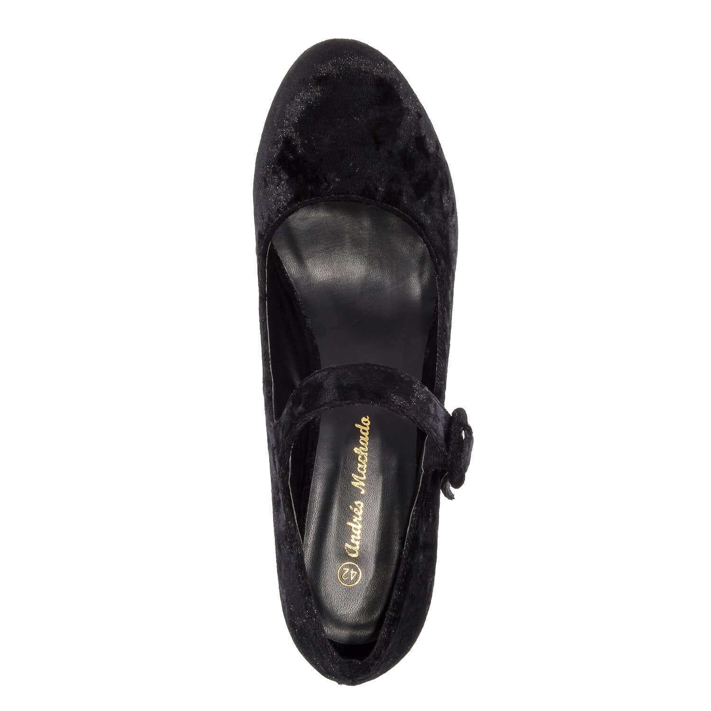 Lodičky Mary Jane, celosametové černé.