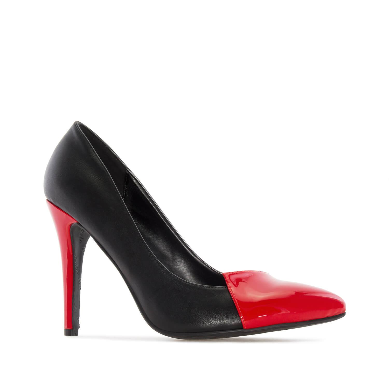 Špicaste dvobojne salonke, crveno crne