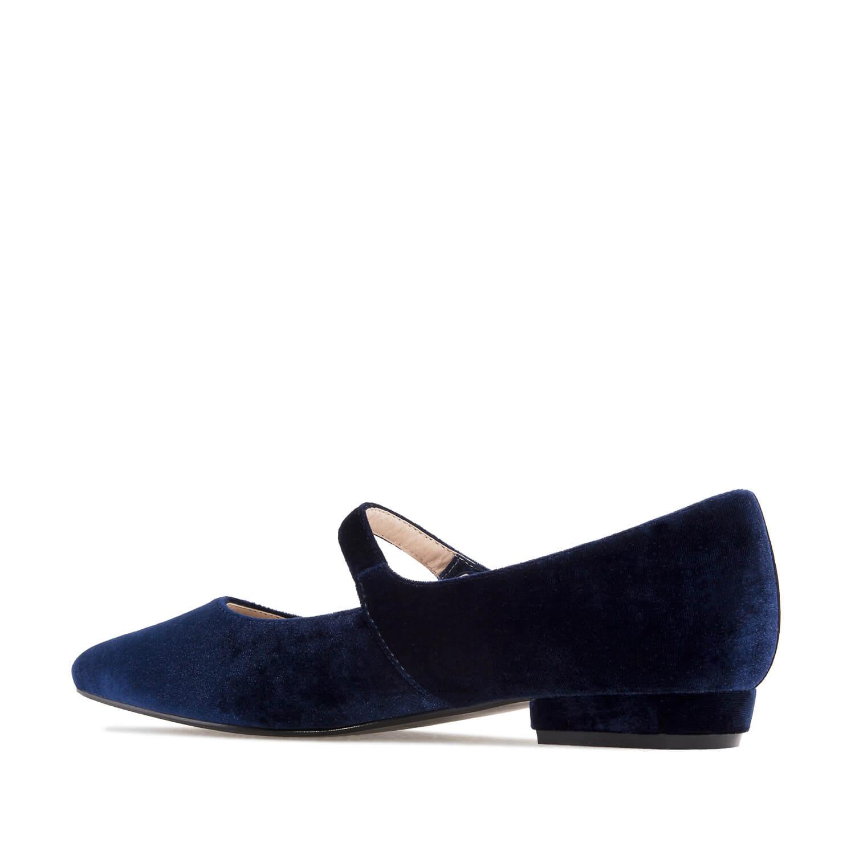 Bailarina Mary Jane Terciopelo Azulon