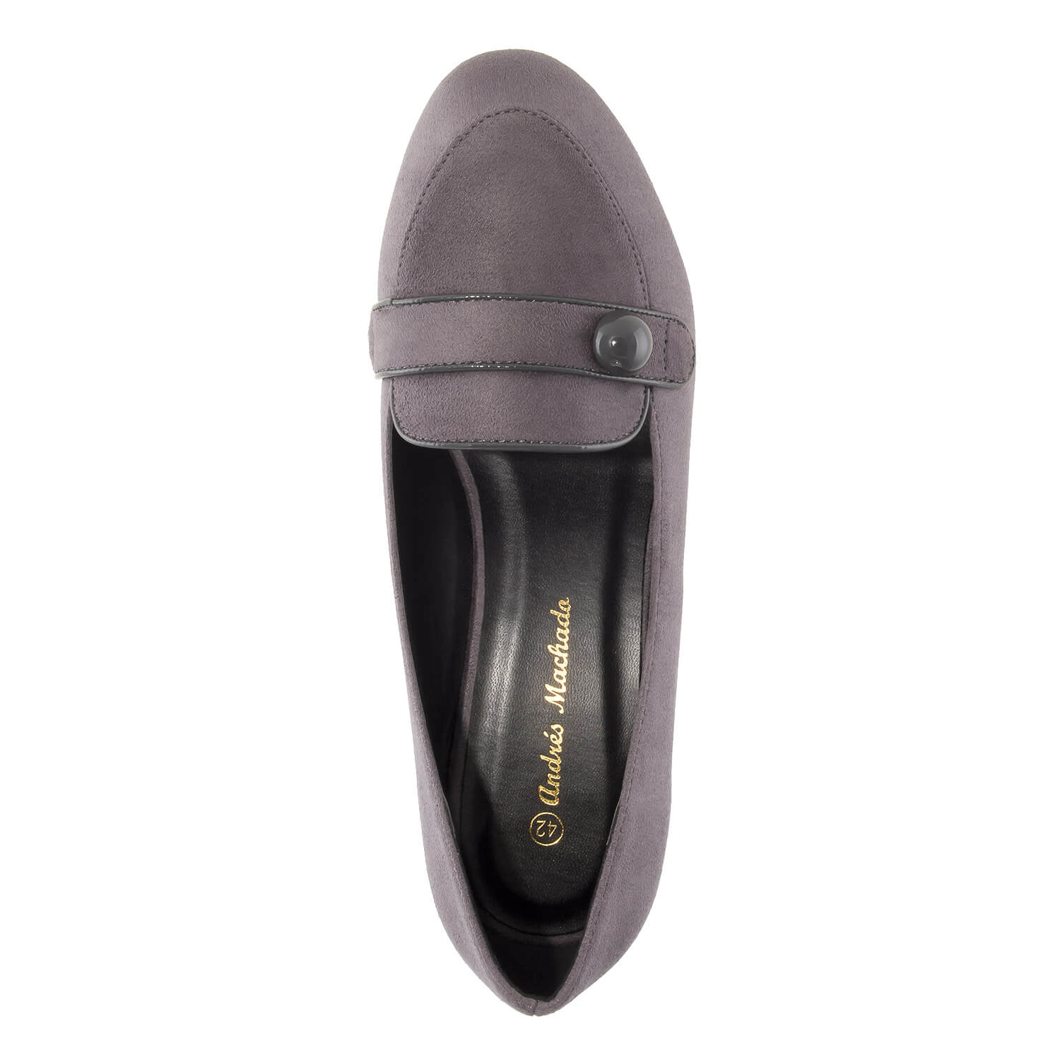 Heeled Mocassins in Grey Suede
