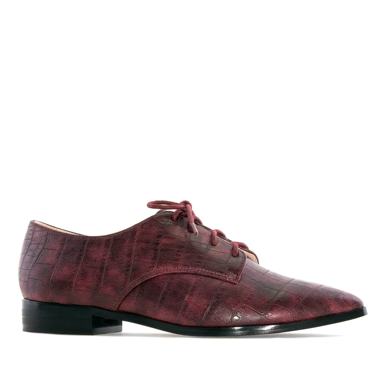 Ženske cipele na pertlanje, bordo
