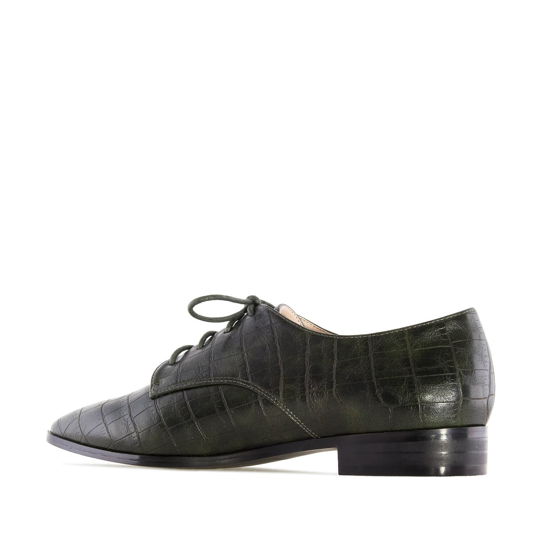 Ženske cipele na pertlanje, zelene