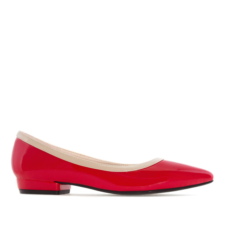 Lakovane baletanke sa potpeticom, crvene