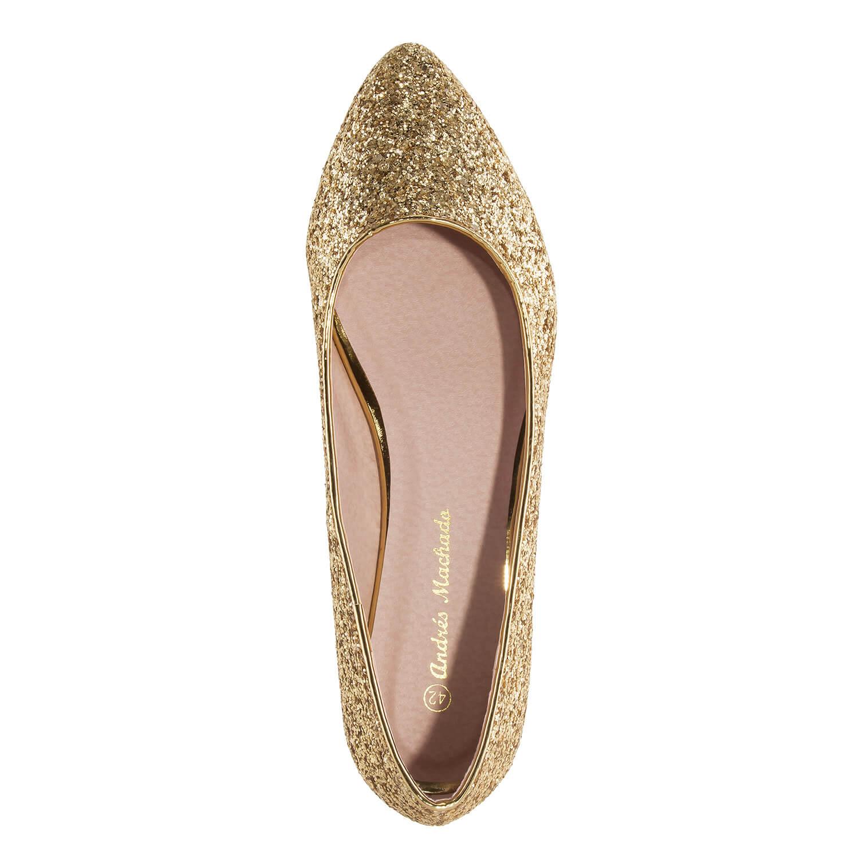 Baletanke sa šljokicama, zlatne