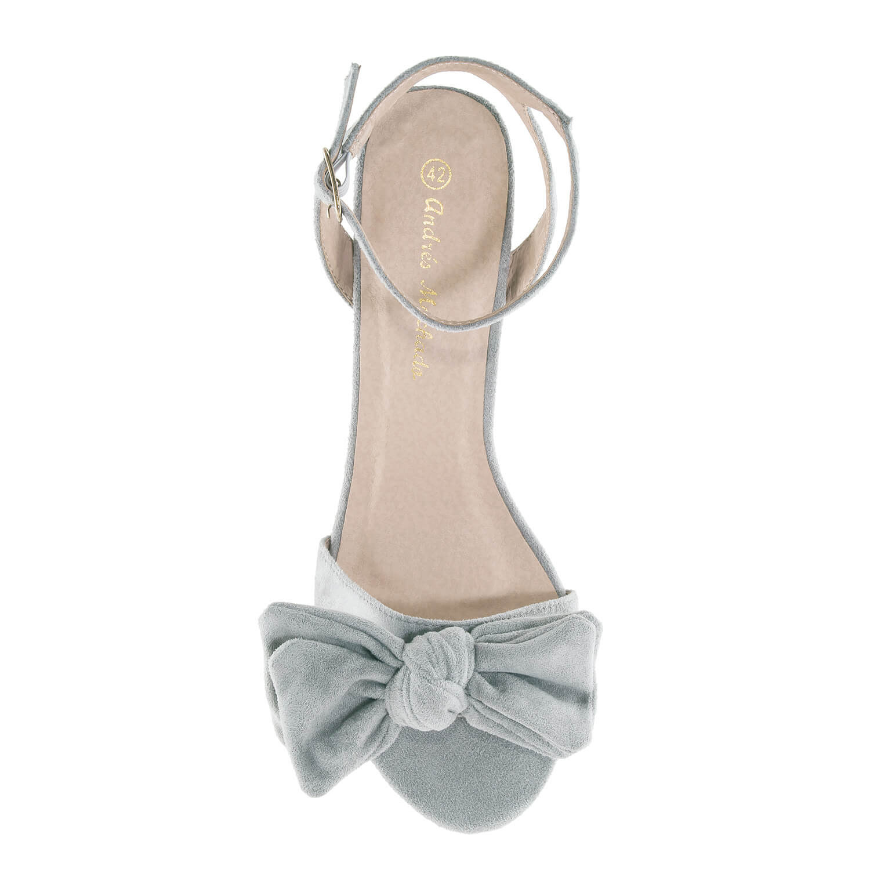 Antilop sandale sa mašnom, sive