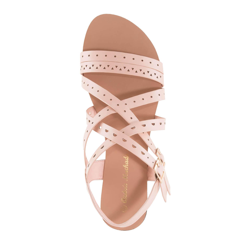 Páskové sandále romanas růžové pudrové.