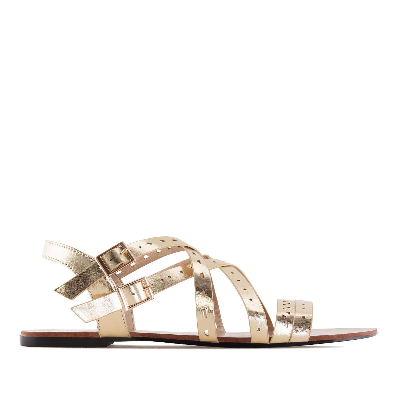 Páskové sandále romanas zlaté.