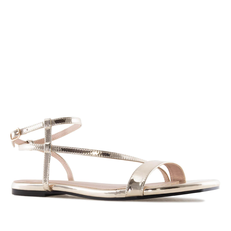 Gold Flat Sandals