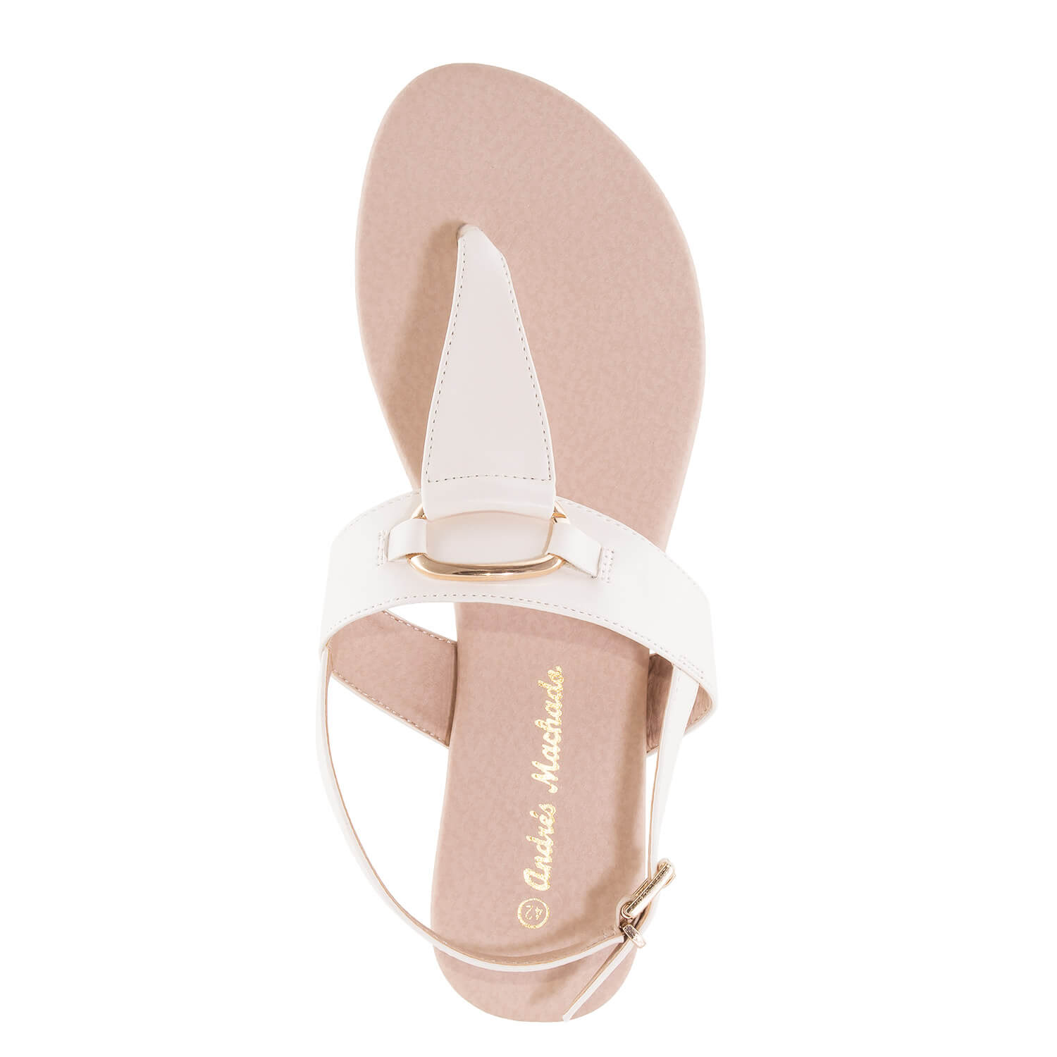 T-Bar-Sandalen in Soft-Beige