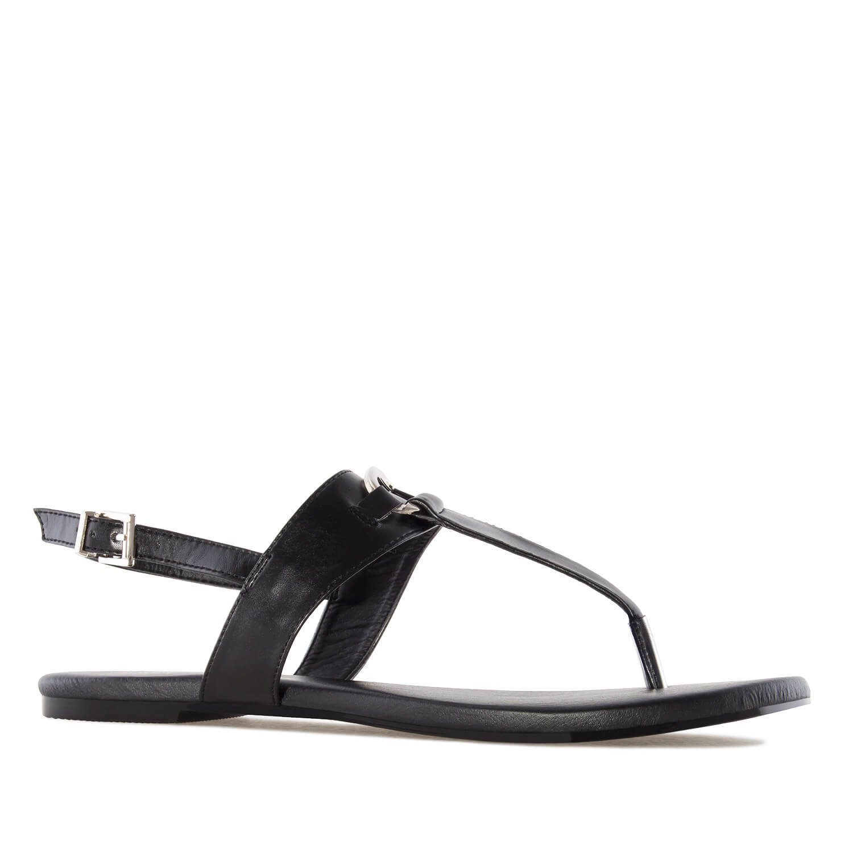 Sandalias T-Bar en Soft Negro