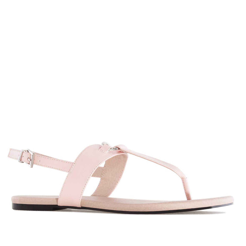 Sandále T-bar růžová barva.