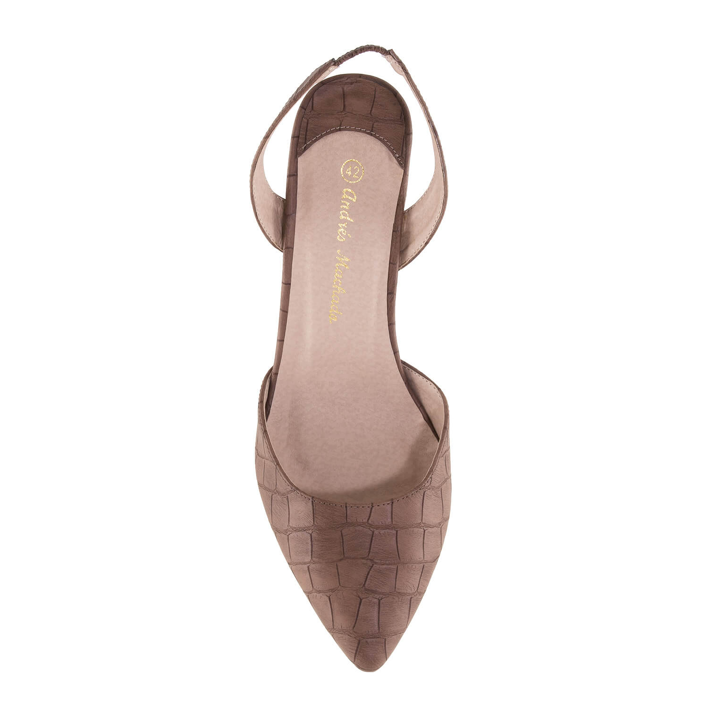 Zapato tacon destalonado Coco Marron