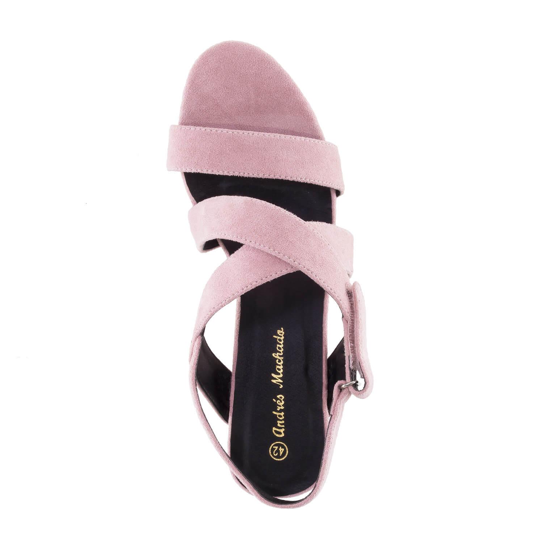 Antilop sandale sa ukrštenim trakama, puder boja