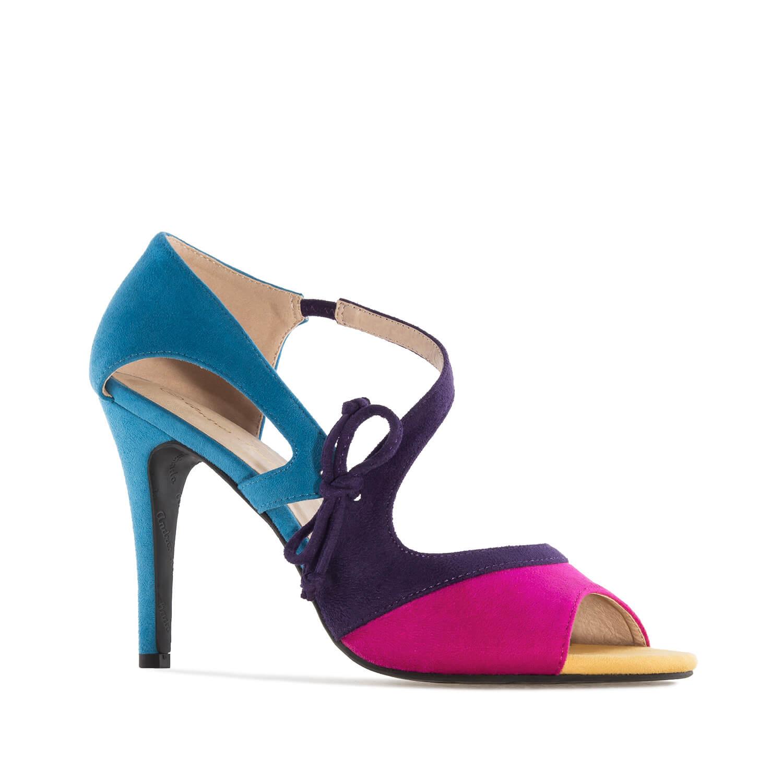 Sandalias en Ante Multicolor Azul