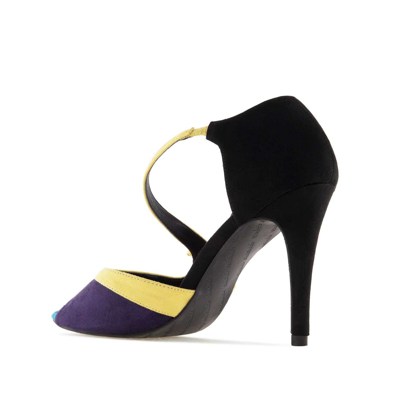 Sandalias en Ante Multicolor Negro