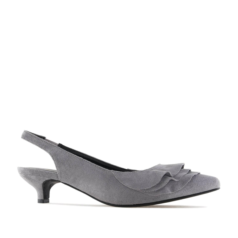 Sandale sa otvorenom petom, sive