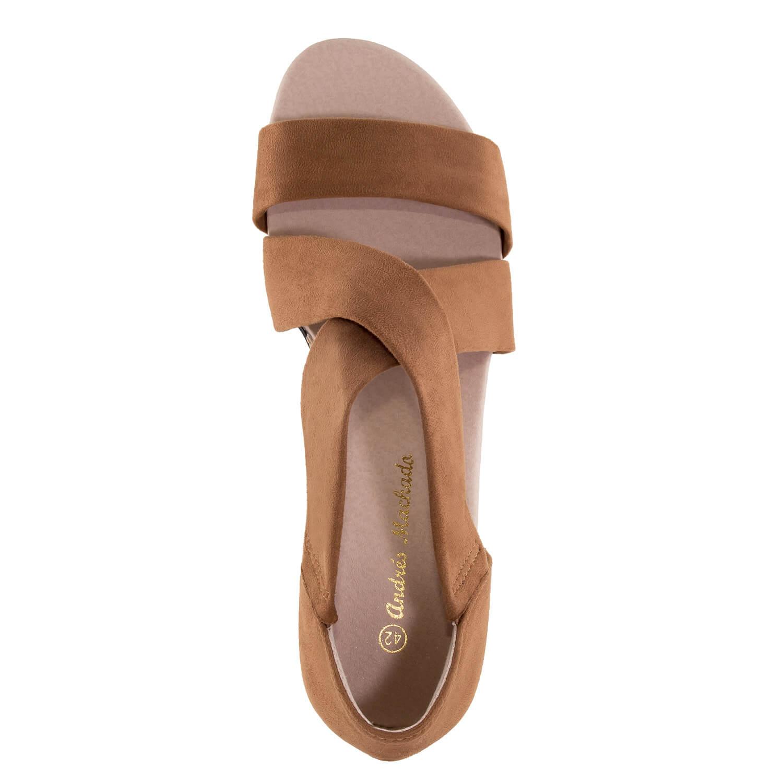 Antilop sandale sa niskom plutanom platformom, braon