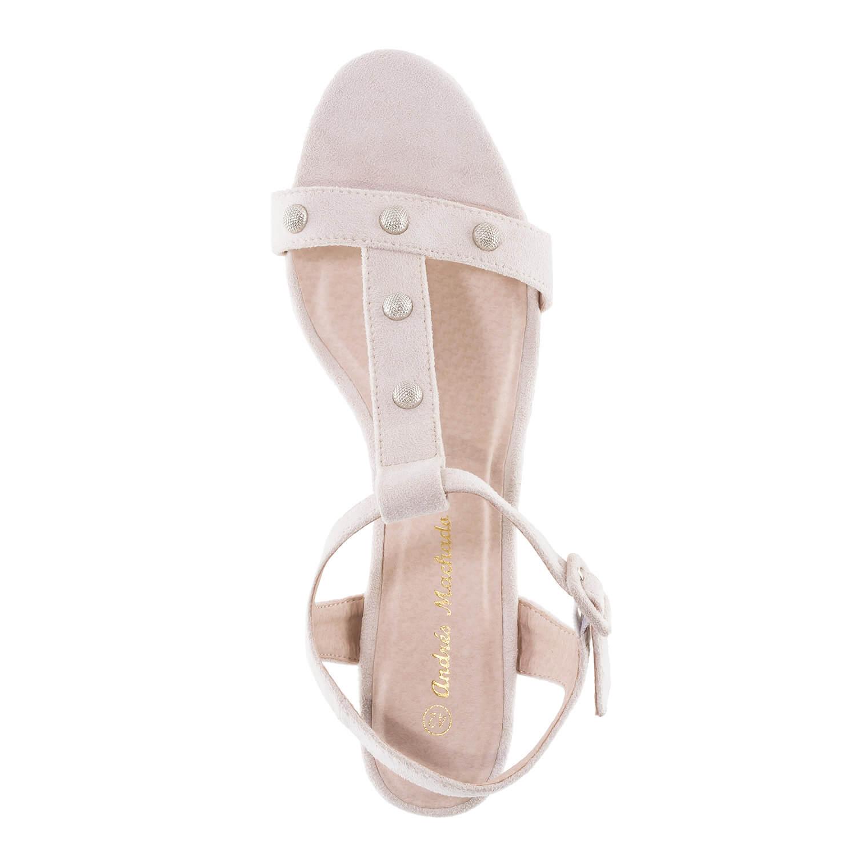 Antilop sandale sa širokom štiklom, bež
