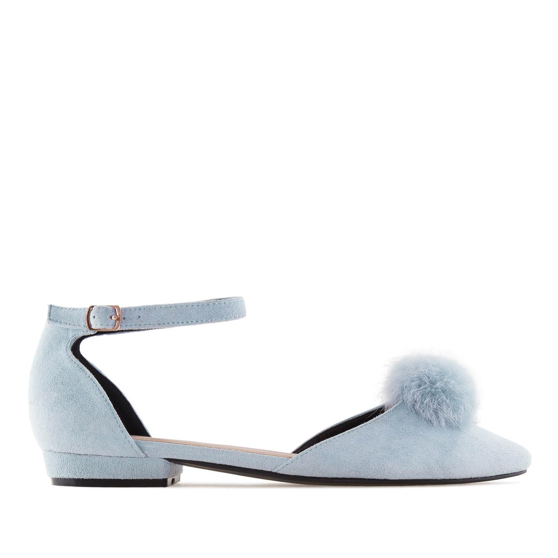 Antilop ravne špicaste sandale, svetlo plave