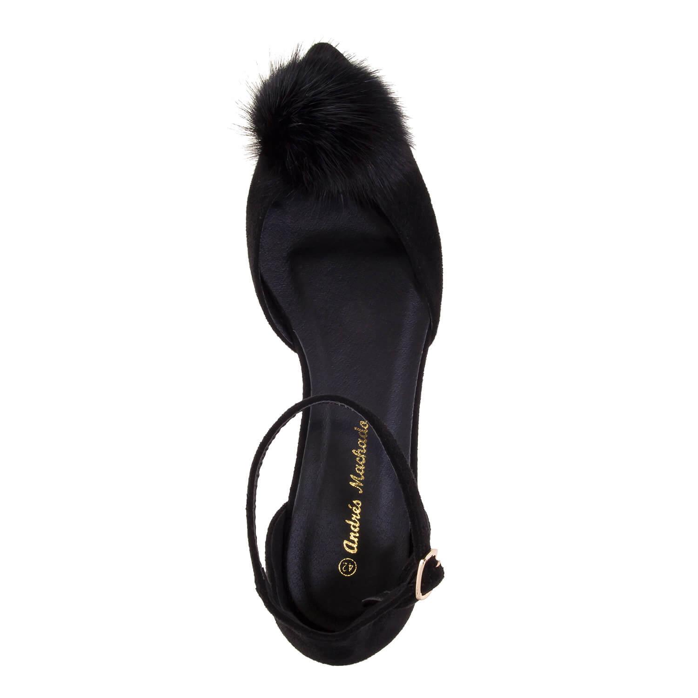 Antilop ravne špicaste sandale, crne