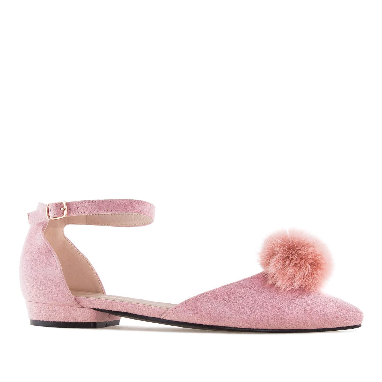 Antilop ravne špicaste sandale, roze