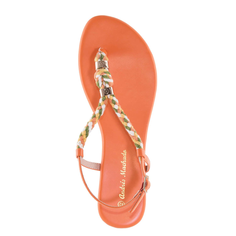 Elegantní žabky. Oranžové.