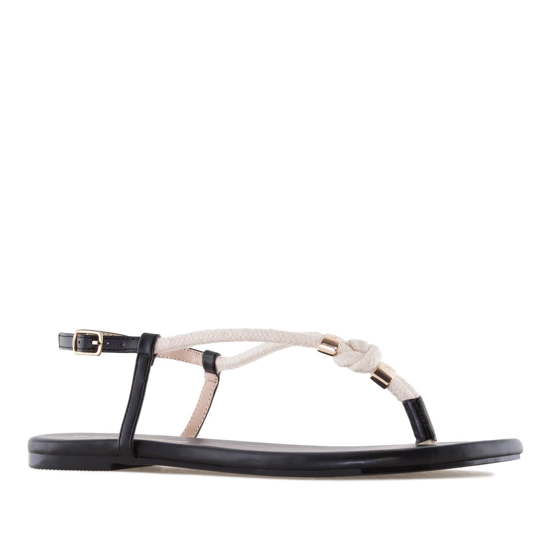 Sandalias cuerda Soft Negro