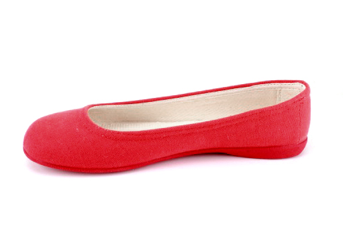 Bailarina de Lona Rojo con suela de Goma.